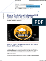 how to trade like a pro oil trader