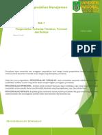 PPT SPM Bab 3 Pengendalian Terhadap Tindakan, Personel dan Budaya