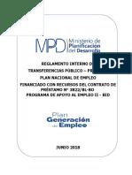 Reglamento de Transferencias Publico Privadas - BID