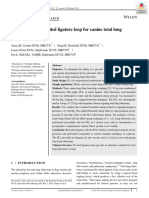 Evaluation of a pre-tied ligature loop for canine total lung