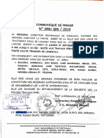 Communiqué REGIDESO pour le 07.09.2019