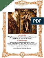 Vigilia de la Natividad de San Juan Bautista y Padre Pio. Guía de los fieles para la santa misa cantada. Kyrial Angelis