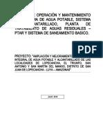 1. Manual de Operación y Mantenimiento JASS LOPECANCHA