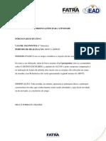 ORIENTAÇÃO DA ATIVIDADE _ forum