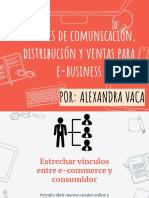 Comunicación Distribución y Ventas E-business por Alexandra Vaca Aguilera