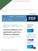 Autoriser_Bloquer une application pare-feu Windows Defender - malekal's site.pdf