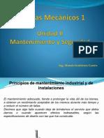 Sistemas Mecanicos Genralidades del Mantenimiento