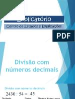Divisão com números decimais