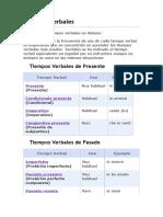 Tiempos Verbales italiano- fuente italianosencillo