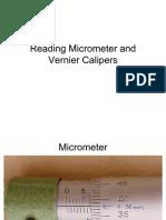 Micrometer and Vernier Caliper Reading