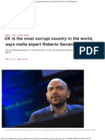 UK is the most corrupt country in the world