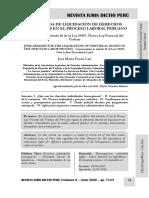 La Demanda de Liquidación de Derechos Individuales en El Proceso Laboral Peruano - Autor José María Pacori Cari