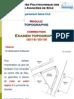 Examen Topographie Corrigé 2019