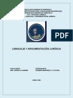 ULTIMO ARGUMENTACIÓN JURIDICA