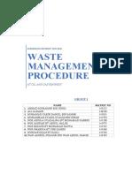 Waste Management Plan