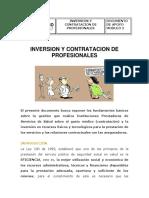 Documento Inversion y Contratacion de profesionales