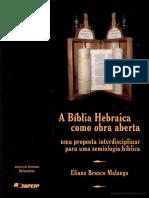 A Bíblia Hebraica como Obra Aberta - Eliana Branco Malanga