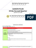 LESSON PLAN- Week 4( Second Quarter)- September 10-14, 2018