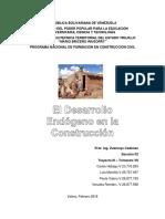 Temática 1 - Desarrollo Endógeno en la Construcción