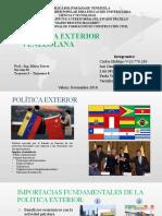Diapositivas - Temática 1 Política exterior venezolana
