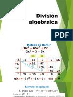 División algebraica-horner