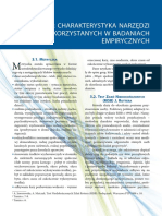 Raport z Badan z Rekomendacjami - Charakterystyka Narzedzi