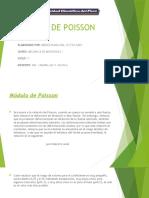 MODULO DE POISSON - VICTOR AGRY MENDOZA MOLINA