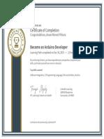 CertificateOfCompletion_Become an Arduino Developer