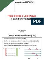 Eletromagentismo-Fluxo elétrico e lei de Gauss (30-05-20)