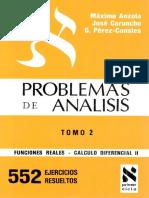 Problemas de Análisis Tomo 2 Máximo Anzola