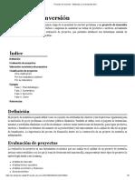 Proyecto de inversión - Wikipedia, la enciclopedia libre