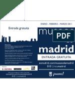 Diptico Baja Museos de Madrid