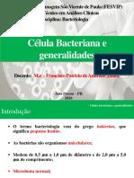Aula 1 - Célula bacteriana