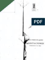 Santo Tomás de Aquino - Meditaciones