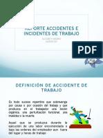 Reporte de accientes de incidentes