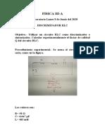 Fisica 3 Laboratorio 1 Lunes 8-6-20