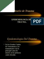 Epidemiología del trauma.