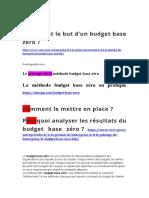 Budget a base zéro