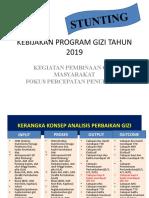 KEBIJAKAN PROGRAM GIZI TAHUN 2019