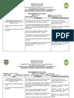 PROGRAMADOR DE CLASE CIENCIAS NATURALES GRADO QUINTO