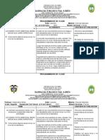 PROGRAMADOR DE CLASE CIENCIAS NATURALES GRADO SEGUNDO