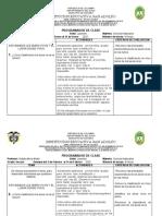 PROGRAMADOR DE CLASE CIENCIAS NATURALES GRADO TERCERO