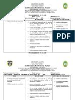 PROGRAMADOR DE CLASE ESPAÑOL GRADO SEGUNDO