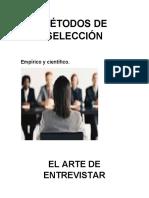 MÉTODOS DE SELECCIÓN