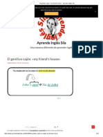 El genitivo sajón_ _my friend's house_ - Aprende Inglés Sila