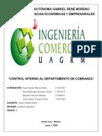 1. CONTROL INTERNO DEPARTAMENTO DE COBRANZA