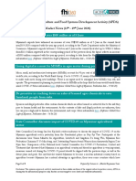 USAID Agriculture and Food Systems Development Activity - Market News - 13th to 19th June 2020