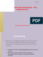 L5 OFFSHORING AND OUTSOURCING -  RISK, CAPABILITIES ETC