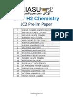 2017 Singapore H2 Chemistry Prelim papers