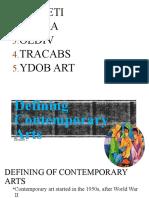 Defining Contemporary Arts